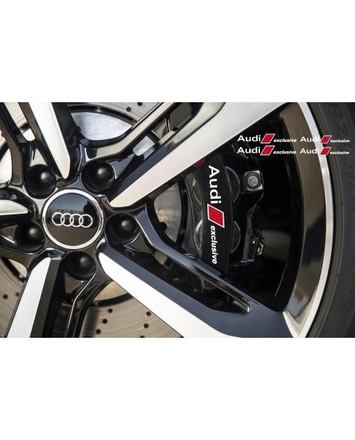 Aufkleber passend für Audi Exclusive Bremssattel Spiegel Fenster Aufkleber 100mm 120mm
