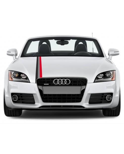 Aufkleber passend für Audi Motorsport Rally streifen Aufkleber 10cm x 125cm