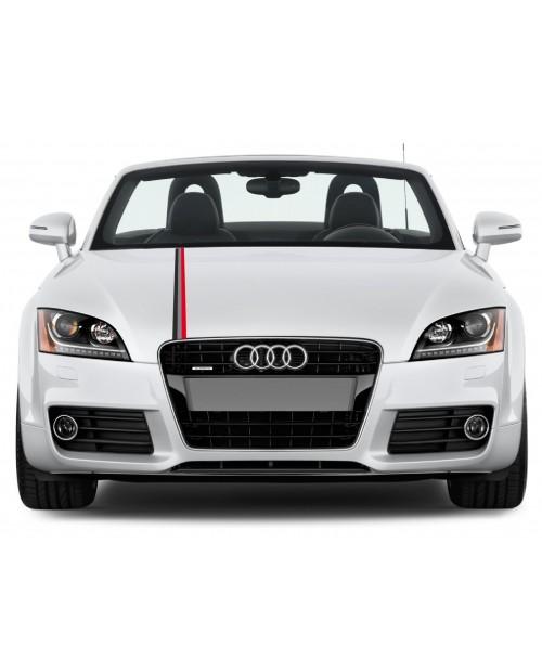 Aufkleber passend für Audi Motorsport Rally streifen Aufkleber 5cm x 125cm