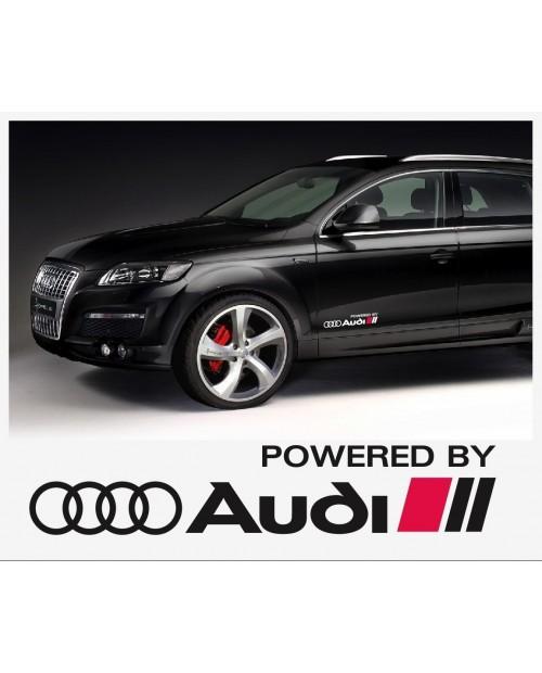 Aufkleber passend für Audi Powered by Audi Seitenaufkleber Aufkleber 40cm 2Stk. Satz