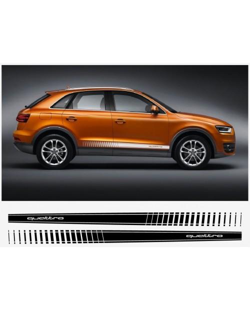 Aufkleber passend für Audi Q3 Quattro Seitenaufkleber Aufkleber Satz