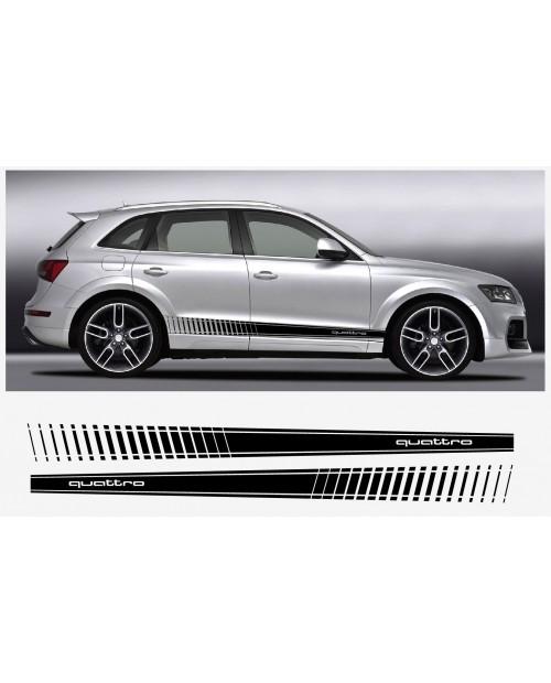 Aufkleber passend für Audi Q5 Quattro Seitenaufkleber Aufkleber Satz 192cm