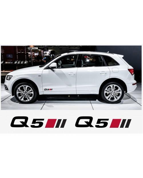 Aufkleber passend für Audi Q5 Seitenaufkleber Aufkleber 2 Stk. 20 cm