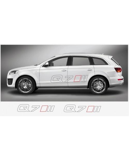 Aufkleber passend für Audi Q7 Seitenaufkleber Aufkleber 2 Stk. 120 cm