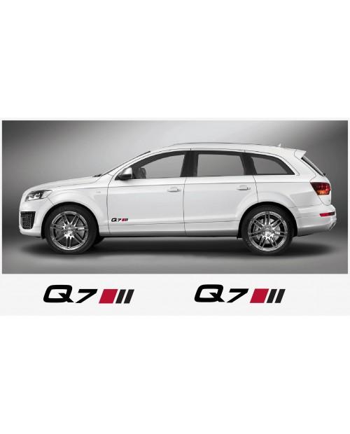 Aufkleber passend für Audi Q7 Seitenaufkleber Aufkleber 2 Stk. 20cm