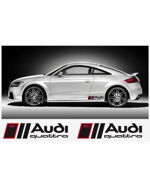 Aufkleber passend für Audi QUATTRO 46cm Seitenaufkleber Aufkleber Satz