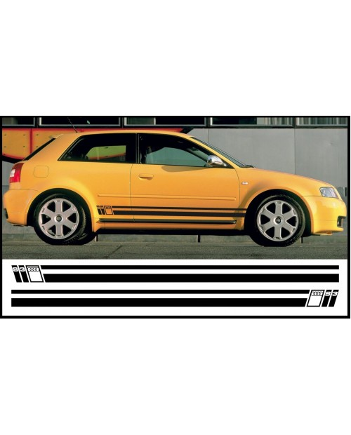 Aufkleber passend für Audi Quattro Seitenaufkleber Aufkleber Satz