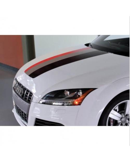 Aufkleber passend für Audi Rally Streifen Aufkleber Performance Power 30cm x 125cm