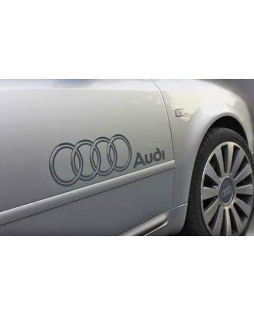 Aufkleber passend für Audi Ringe 55cm Seitenaufkleber Aufkleber Satz