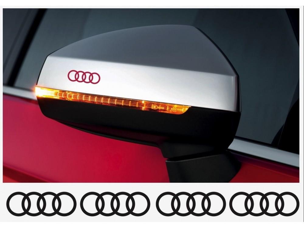 Aufkleber Passend Für Audi Ringe Felgen Bremssattel