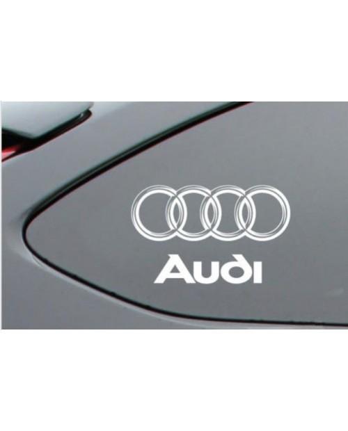 Aufkleber passend für Audi Ringe Fenster - Seitenaufkleber 2 Stk. Satz 140mm