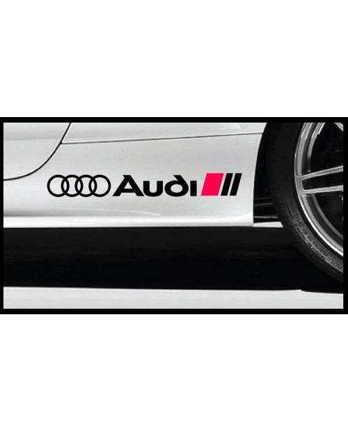 Aufkleber passend für Audi Ringe Seitenaufkleber Aufkleber Satz 40cm 2Stk. Satz