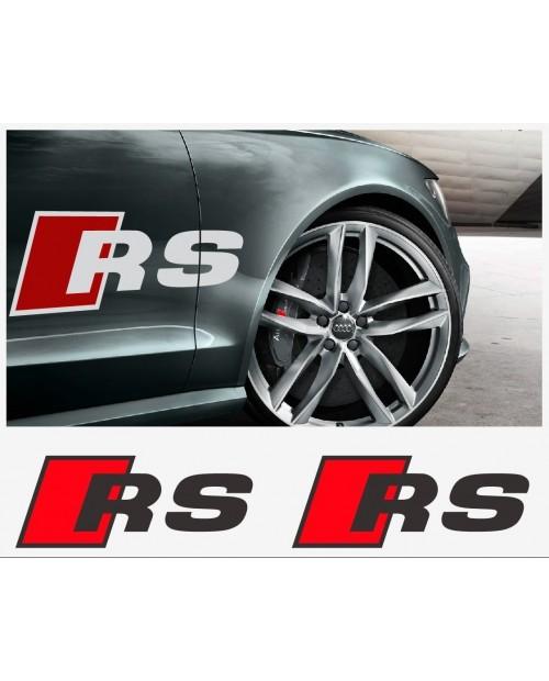 Aufkleber passend für Audi RS Aufkleber Seitenaufkleber 460mm 2Stk. Satz
