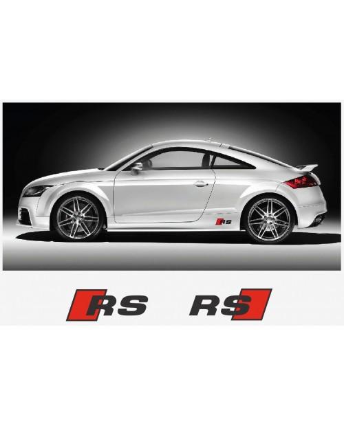 Aufkleber passend für Audi RS Seitenaufkleber Aufkleber  2Stk. Satz 200mm