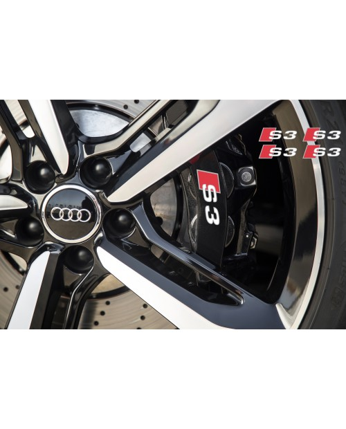 Aufkleber passend für Audi S3 Bremssattel Spiegel Fenster Aufkleber