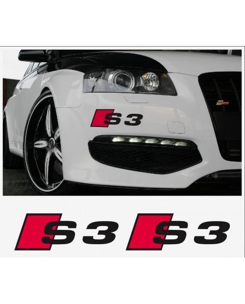 Aufkleber passend für Audi S3 S4 S5 S6 S7 S8 Aufkleber Seitenaufkleber 100mm bis 300mm 2Stk. Satz
