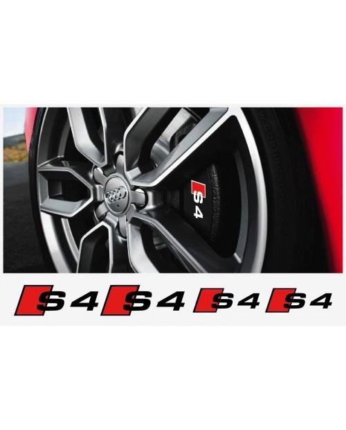 Aufkleber passend für Audi S4 Bremssattel Aufkleber 4Stk. Satz