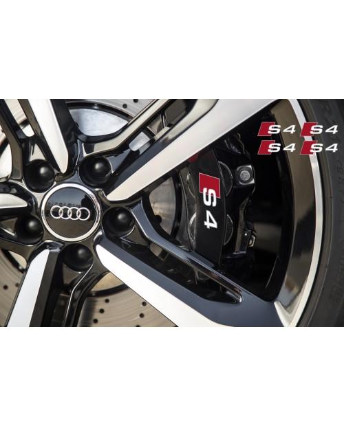 Aufkleber passend für Audi S4 Bremssattel Spiegel Fenster Aufkleber