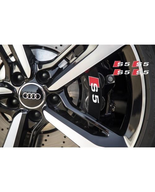Aufkleber passend für Audi S5 Bremssattel Spiegel Fenster Aufkleber