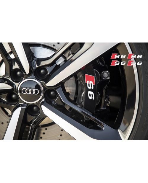 Aufkleber passend für Audi S6 Bremssattel Spiegel Fenster Aufkleber