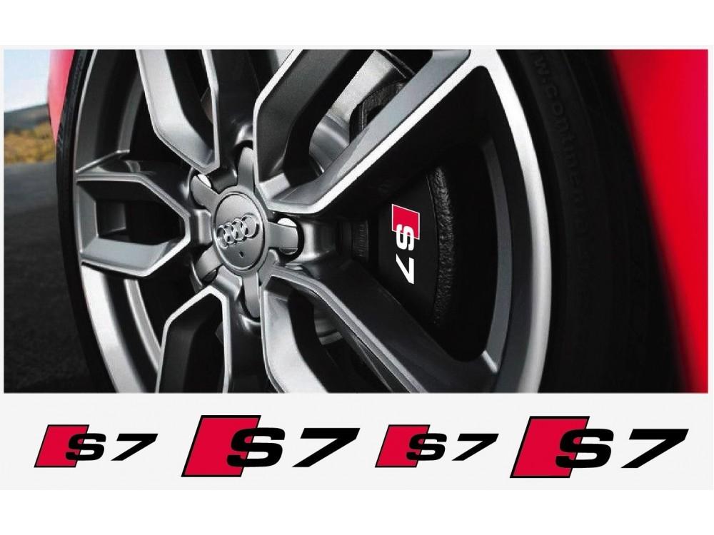 Aufkleber Passend Für Audi S7 Bremssattel Aufkleber 4stk
