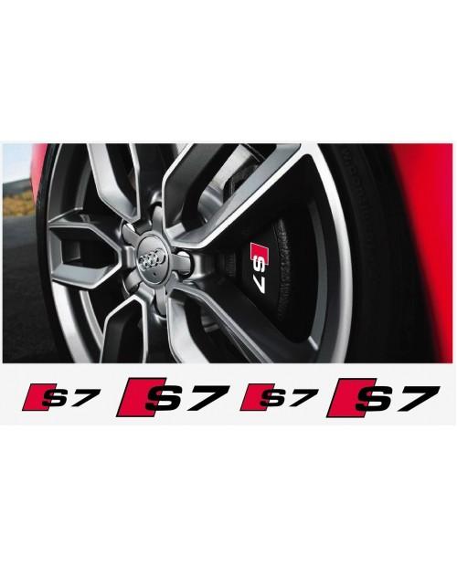 Aufkleber passend für Audi S7 Bremssattel Aufkleber 4Stk. Satz