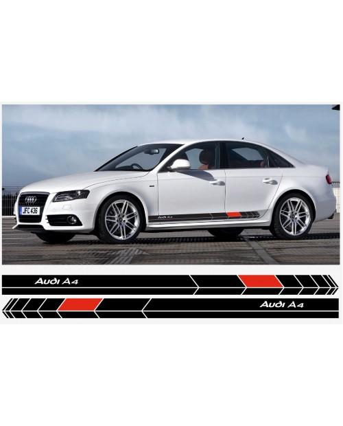 Aufkleber passend für Audi Seitenaufkleber Aufkleber 2 Stk. 180 cm