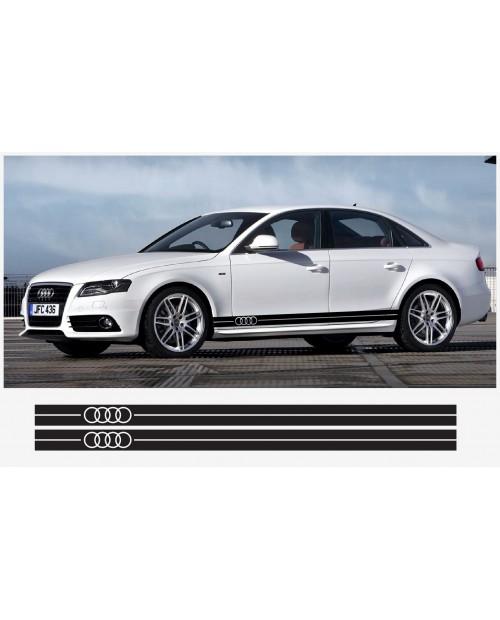 Aufkleber passend für Audi Seitenaufkleber Aufkleber 2 Stk. 225 cm