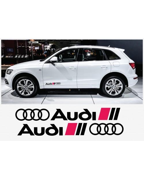 Aufkleber passend für Audi Seitenaufkleber Aufkleber 2 Stk. 40 cm