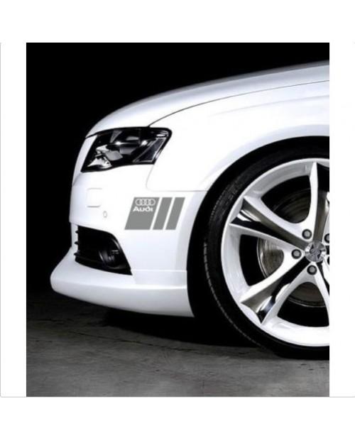 Aufkleber passend für Audi Seitenaufkleber Aufkleber 20cm 2Stk. Satz