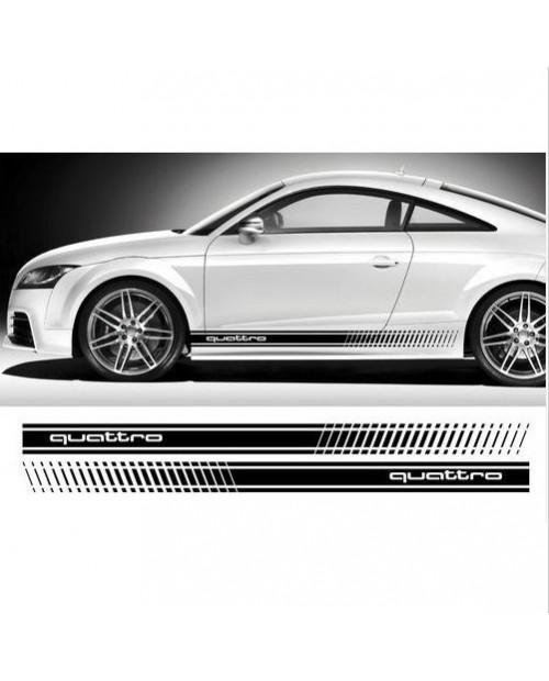 Aufkleber passend für Audi Seitenaufkleber Aufkleber Satz 180cm A3 A4 A5 A6 A8 S4 S5 S6 RS4 Q5