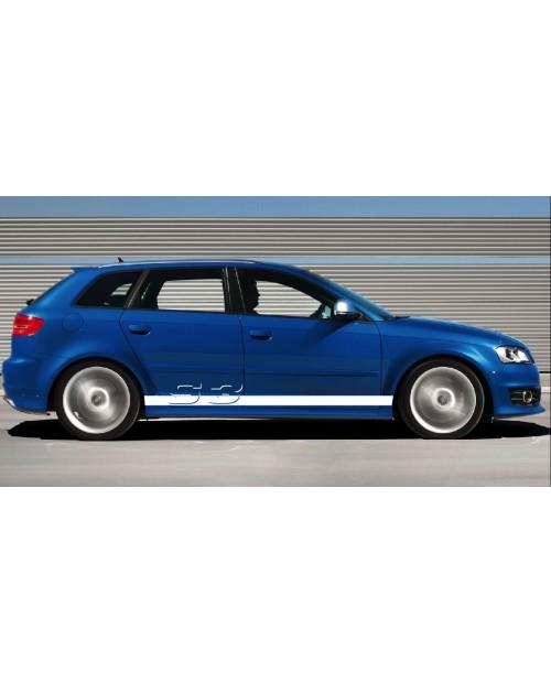 Aufkleber passend für Audi Seitenaufkleber Aufkleber Satz A3 S3
