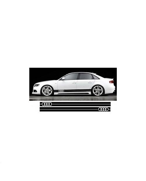 Aufkleber passend für Audi Seitenaufkleber Aufkleber Satz 225cm