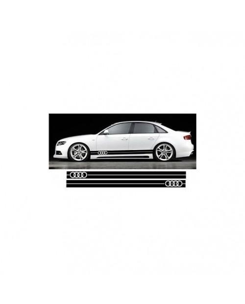 Aufkleber passend für Audi Seitenaufkleber Aufkleber Satz CARBON OPTIK