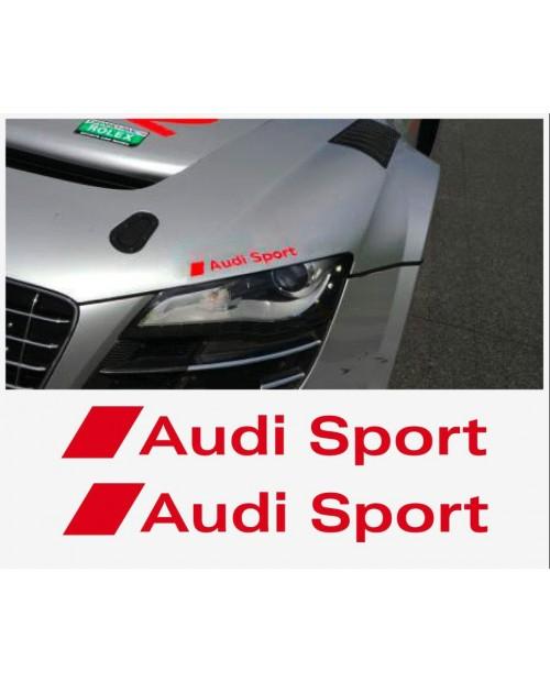Aufkleber passend für Audi Sport Seitenaufkleber 2 Stk. Satz 200mm