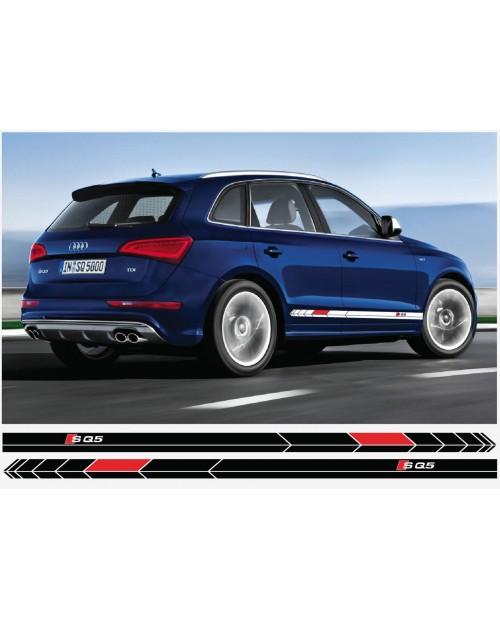 Aufkleber passend für Audi SQ5 Seitenaufkleber Aufkleber Satz 193cm 2Stk. Satz