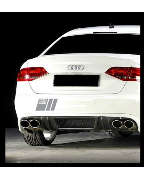 Aufkleber passend für Audi Heckaufkleber Aufkleber 20cm 2Stk. Satz