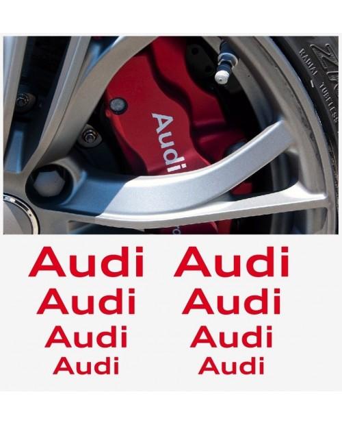 Aufkleber passend für Audi Fenster- Bremssattel- Spiegel Aufkleber - 8 Stück im Set