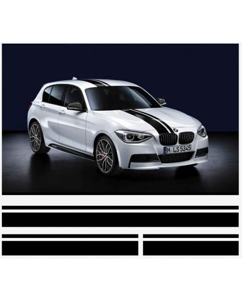 Aufkleber passend für BMW 1er M Performance streifen satz
