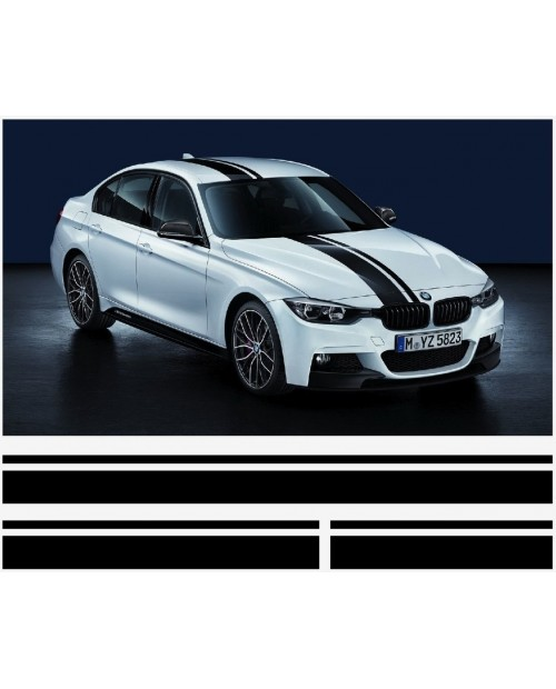 Aufkleber passend für BMW 3er M Performance streifen satz