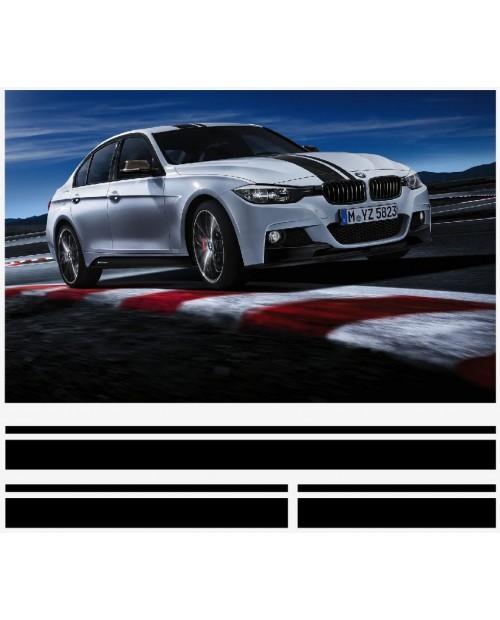 Aufkleber passend für BMW 5er M Performance streifen satz