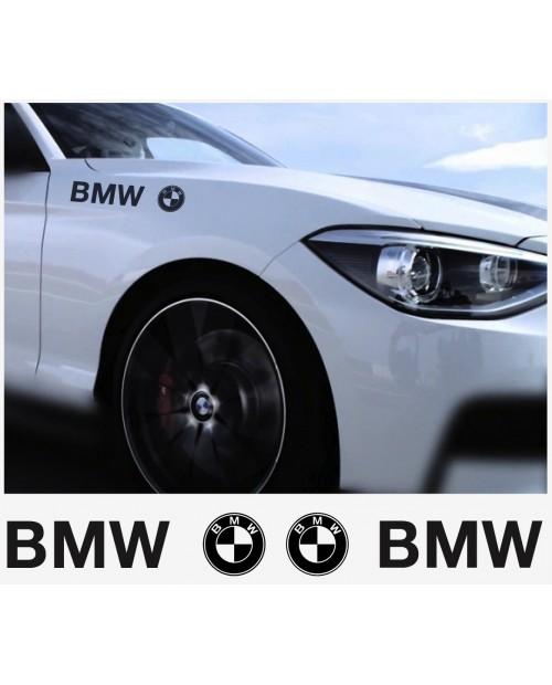 Aufkleber passend für BMW Aufkleber Seitenaufkleber 350mm 2Stk  Satz