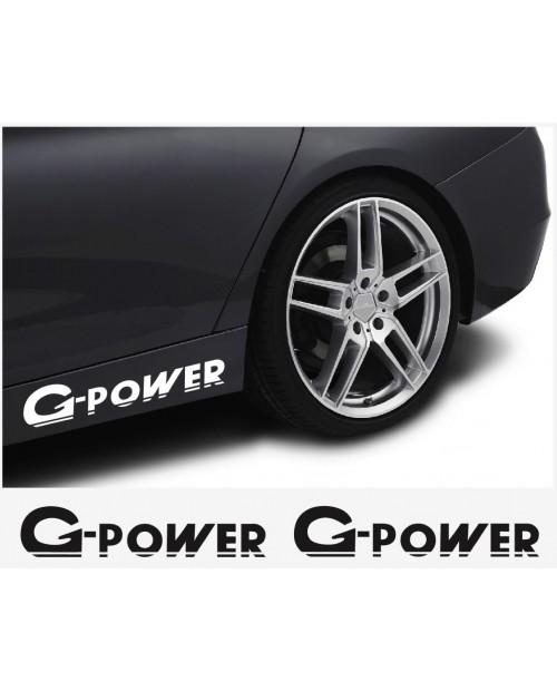 Aufkleber passend für BMW G Power Aufkleber Seitenaufkleber 450mm 2Stk  Satz