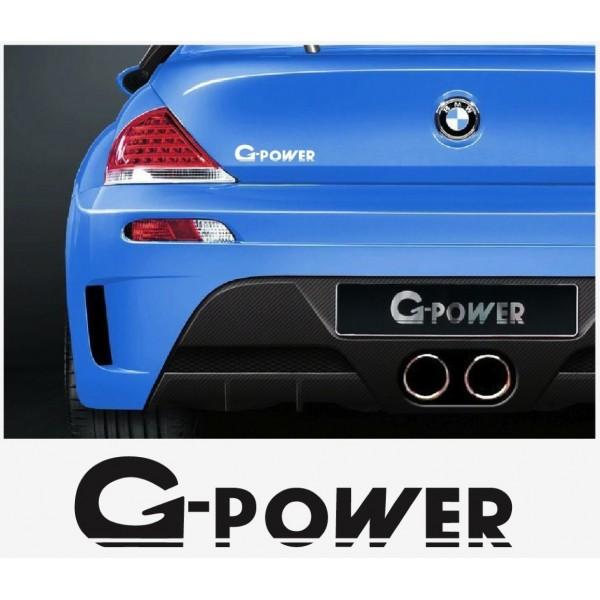 Aufkleber passend für BMW G Power Aufkleber Heckaufkleber 140mm 2Stk. Satz