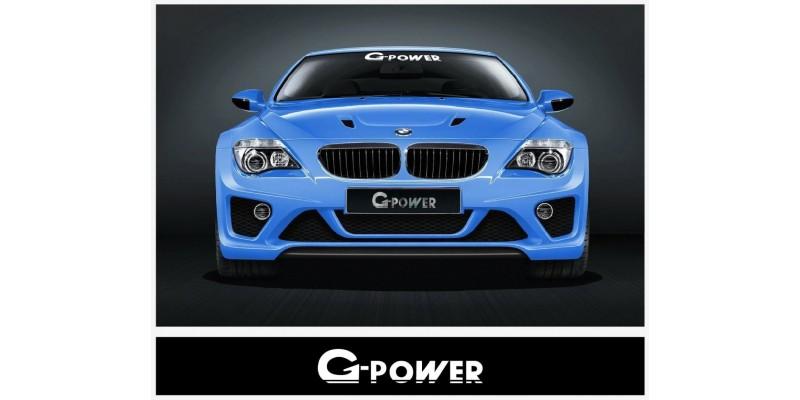 Aufkleber passend für BMW G Power Frontscheiben Aufkleber 560 mm / 1400 mm