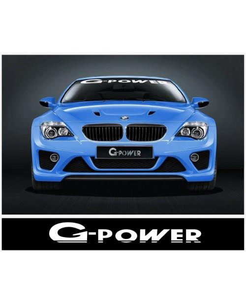 Aufkleber passend für BMW G Power Frontscheiben Aufkleber 950 mm / 1400 mm