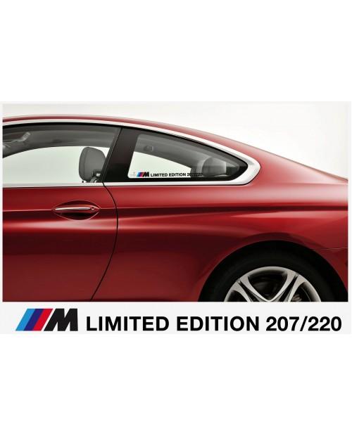 Aufkleber passend für BMW M Limited Edition Wunschnummer Aufkleber Seitenaufkleber 300mm 2Stk  Satz
