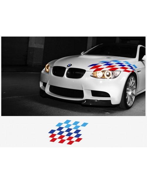 Aufkleber passend für BMW M Performance Flagge Aufkleber Haubenaufkleber