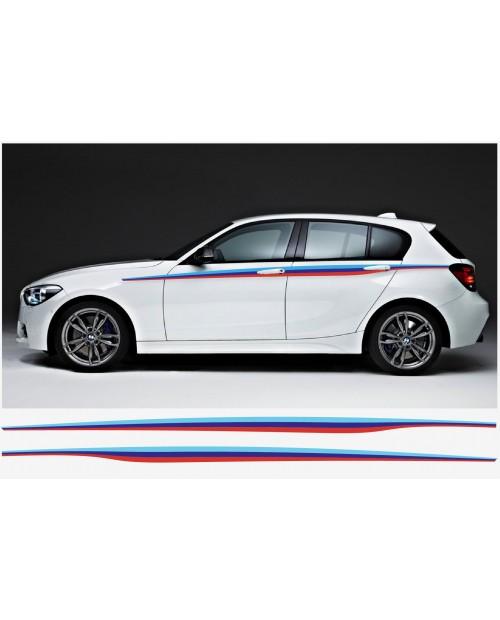 Aufkleber passend für BMW M Performance M Streifen Aufkleber Seitenaufkleber 289cm