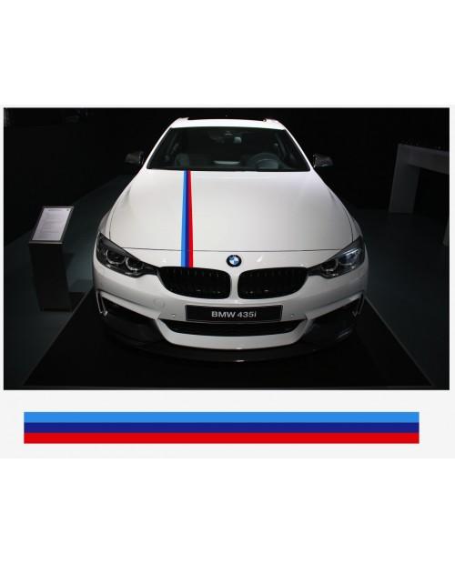 Aufkleber passend für BMW M Performance M Streifen Aufkleber Haubenaufkleber 10cm x 125cm